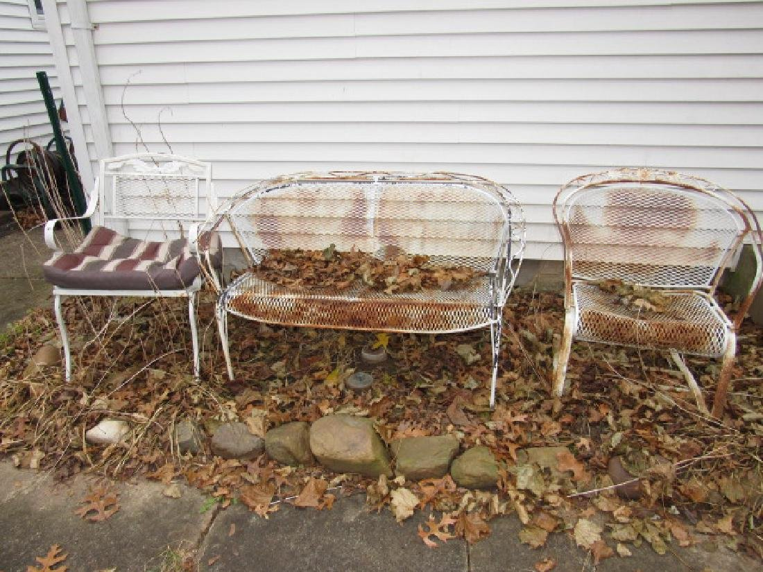 Metal Patio Chairs & Bench