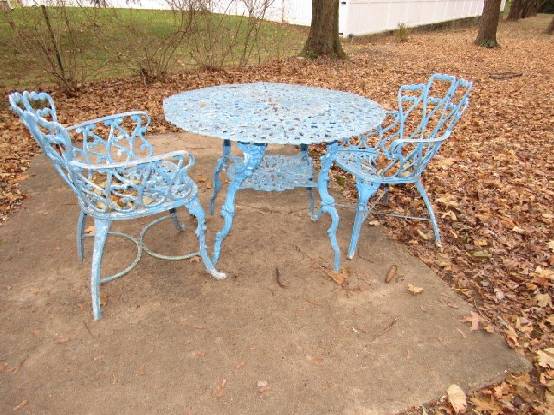 Aluminum Patio Table & 2 Chairs