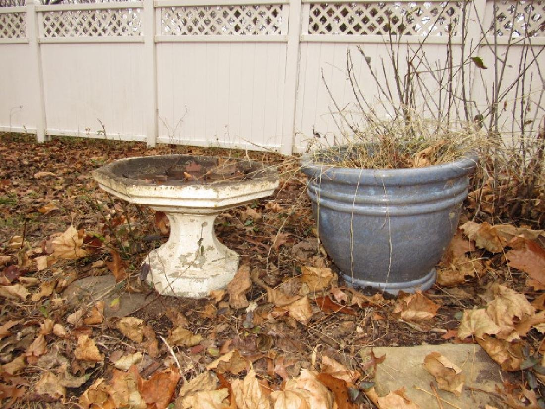 Small Concrete Bird Bath & Planter