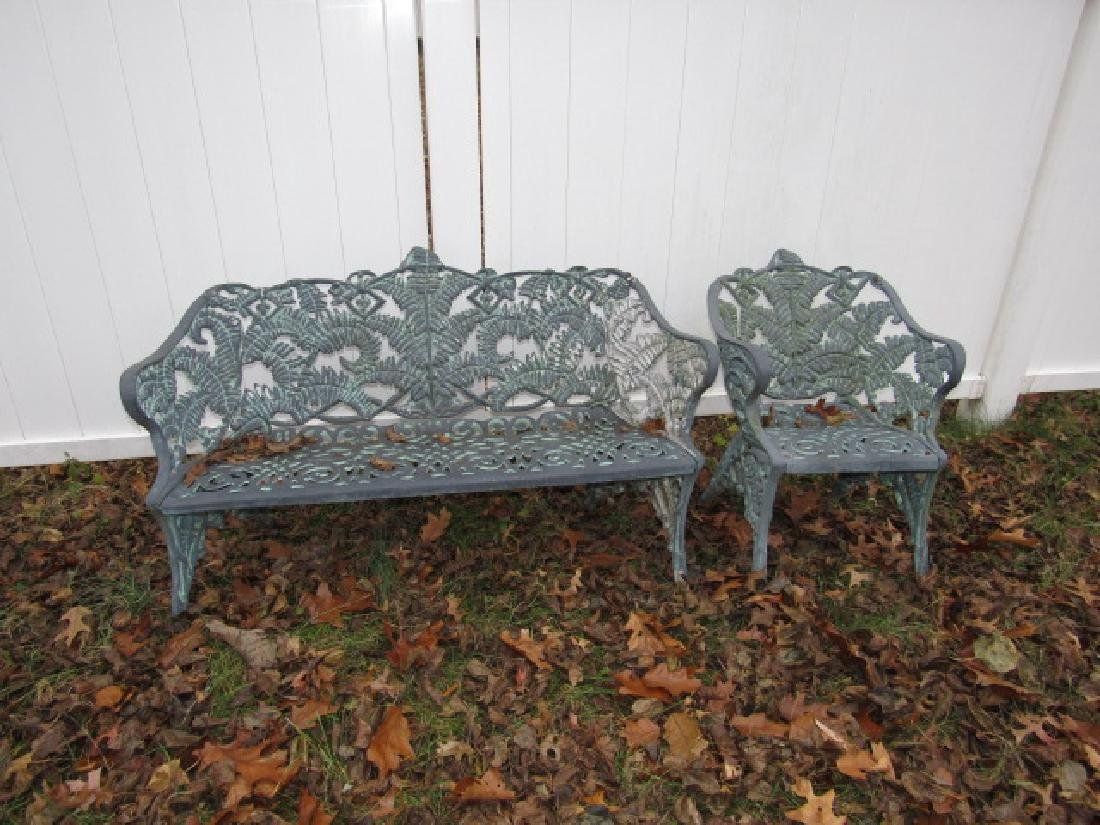 Cast Aluminum  Garden Bench & Chair
