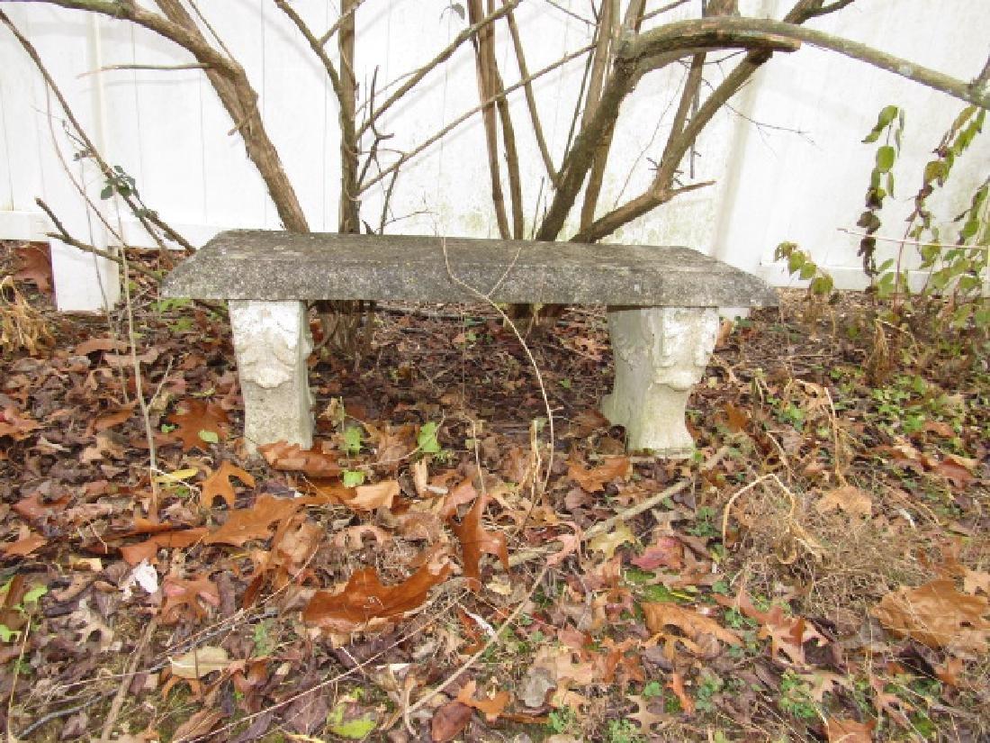 Concrete Flower Garden Bench