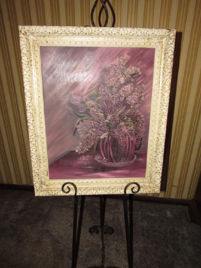 Grace Dougherty Lilacs & Tulips Oil Painting
