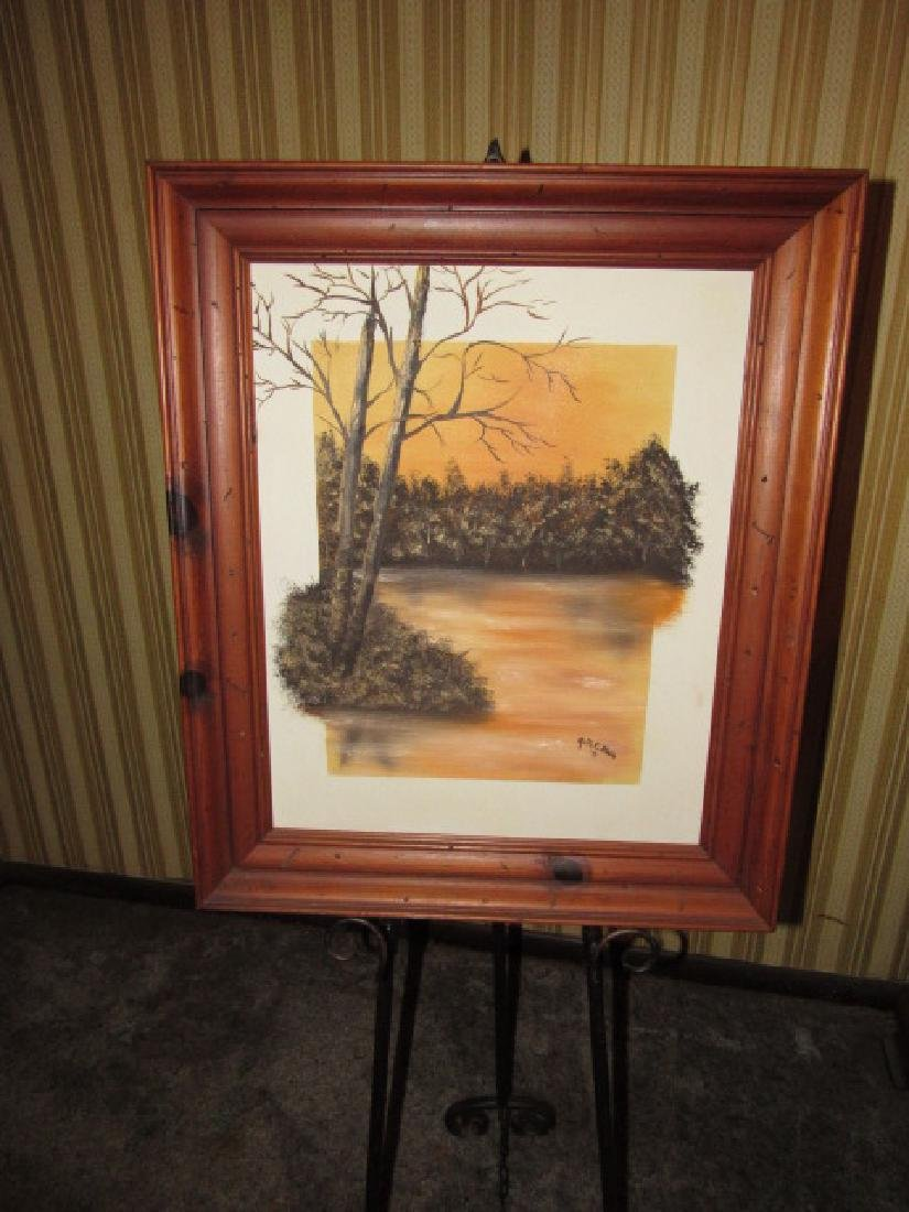 Ruth Blain Oil on Canvas Painting Landscape