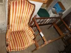Vintage Chair and Wood Crib