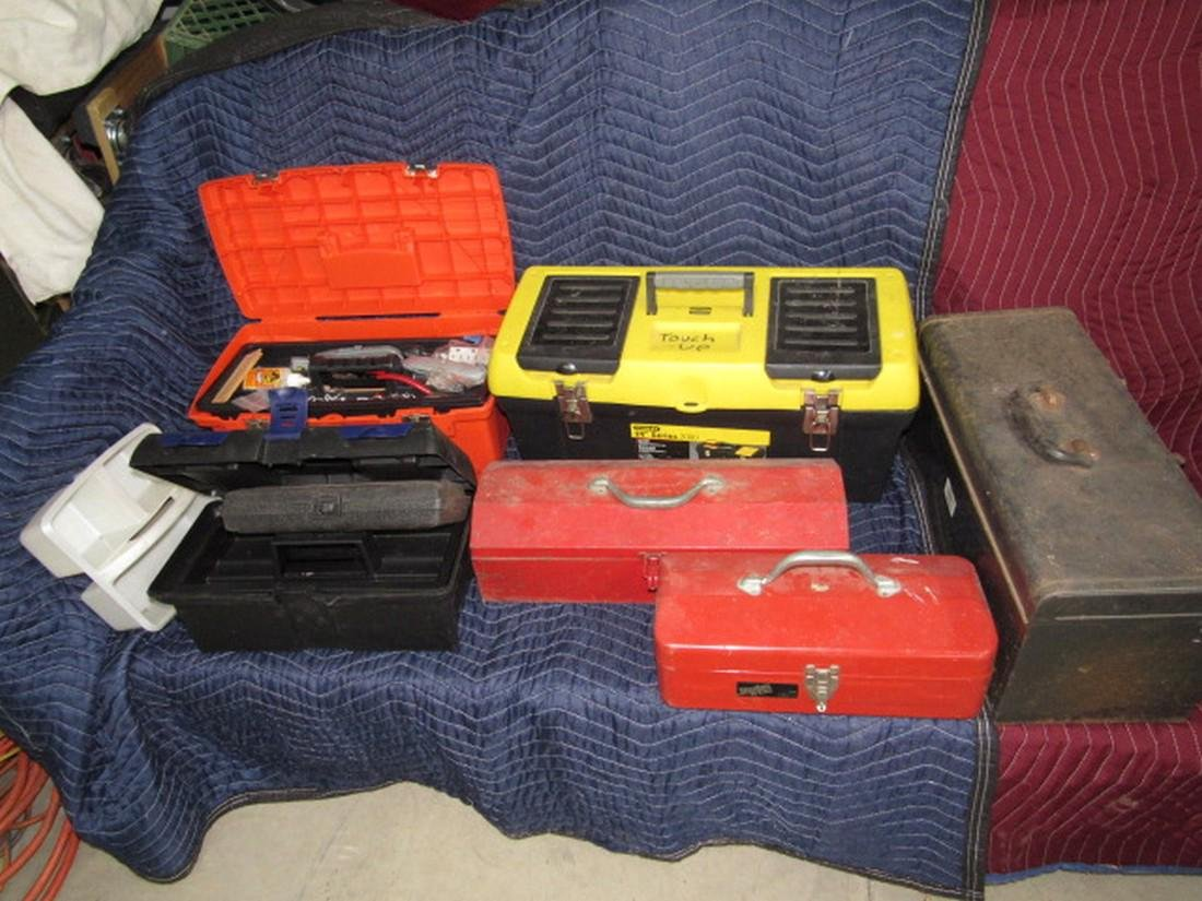 Lot of Tool Boxes Stanley Disston All American