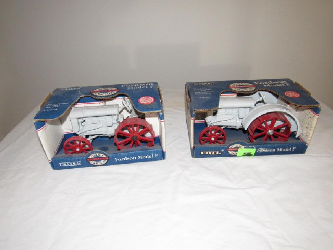 2 Ertl Fordson Model F Die Cast Toy Tractors