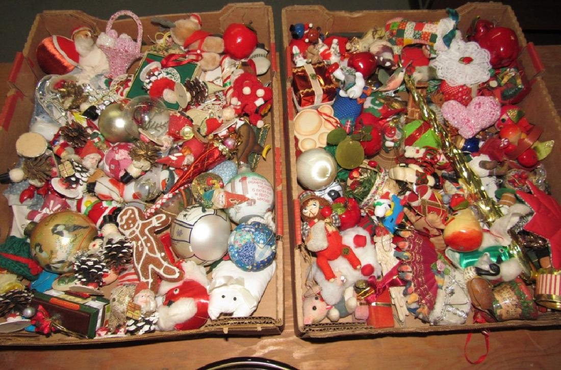 2 Boxes of Vintage Christmas Ornaments