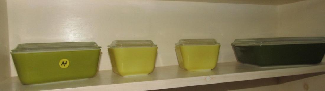 4 Pyrex Refridgerator Dishes
