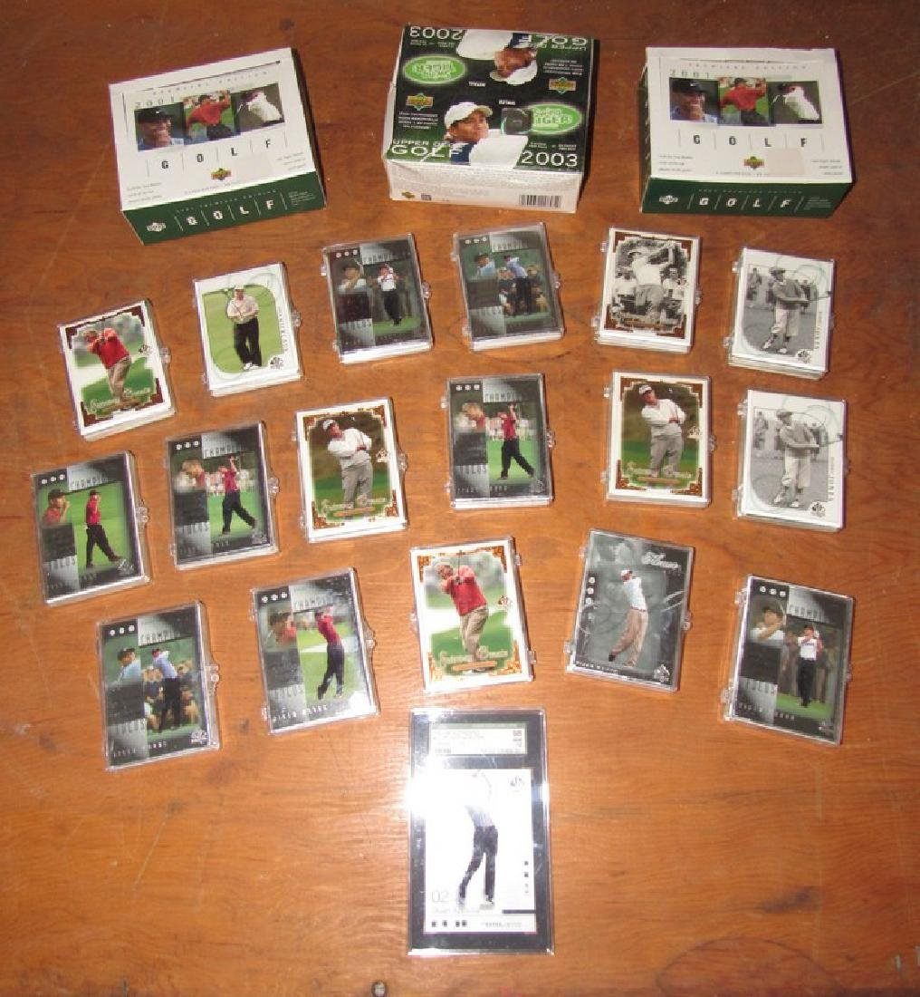 Large Lot of Upper Deck Golf Trading Cards