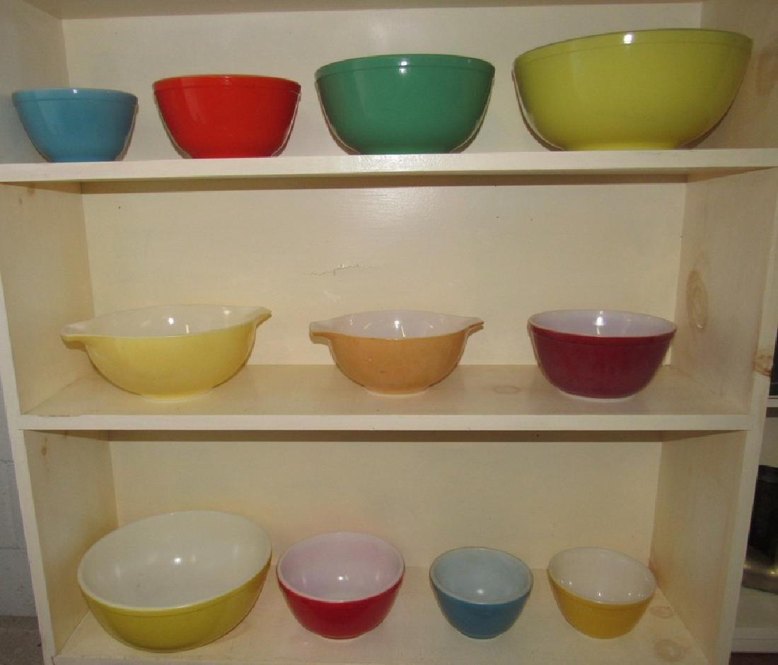 11 Pyrex Mixing Bowls
