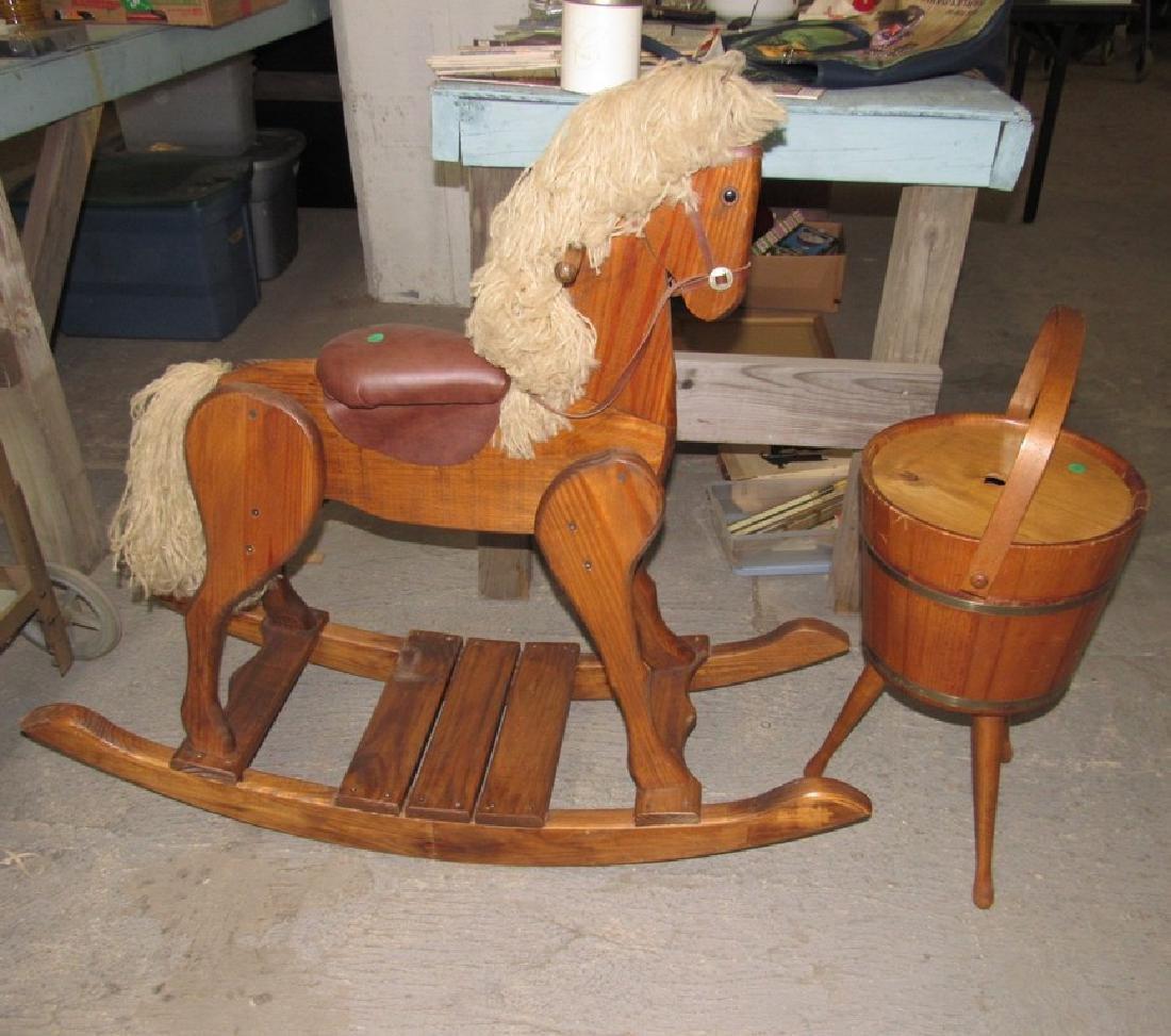 Rocking Horse & Sewing Bucket