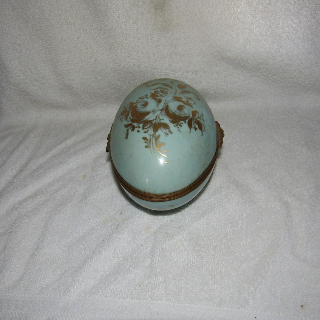 Hand Painted Egg Trinket Box