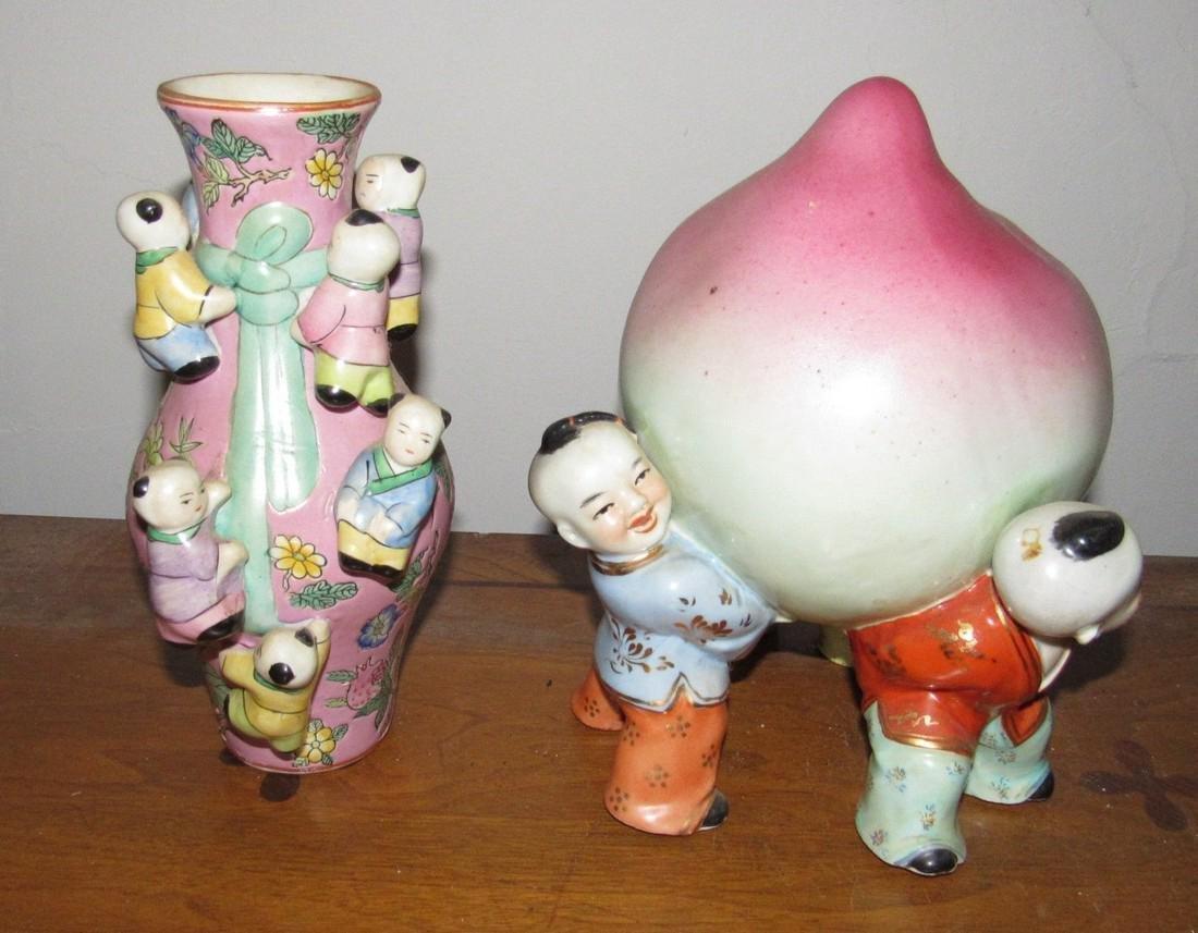 Oriental Statue & Vase