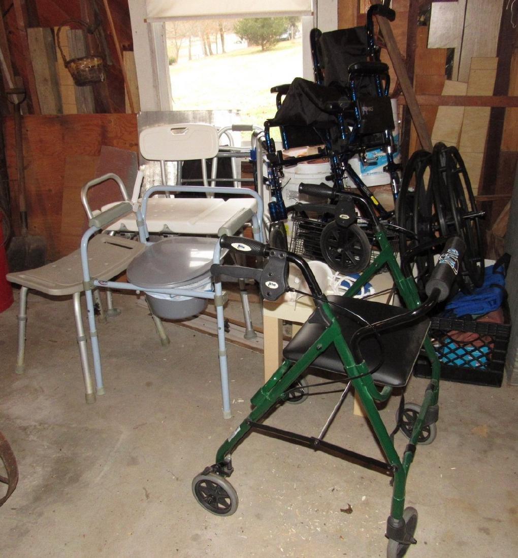 Transport Chair Walkers Handicap Lot