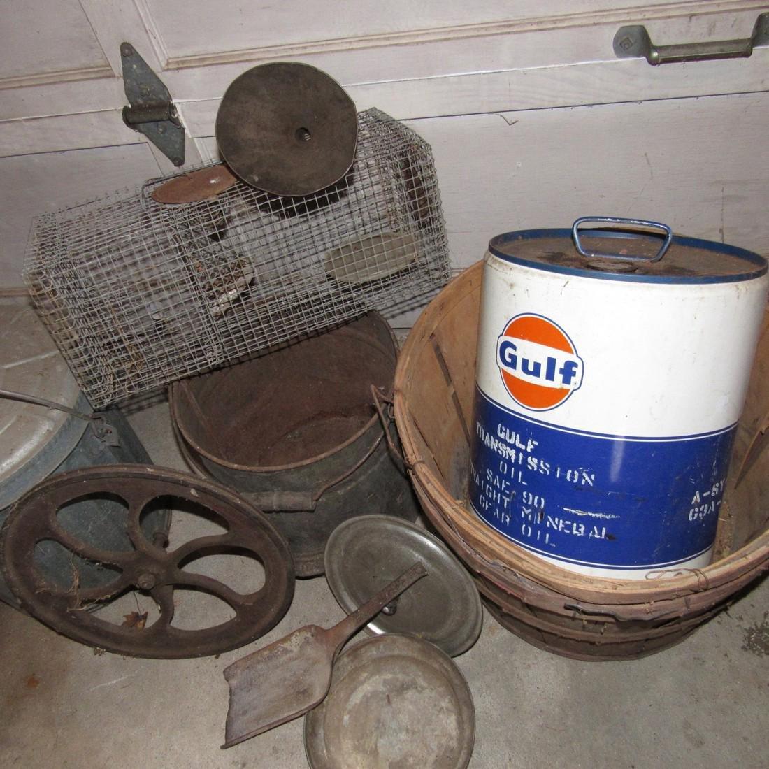Gulf Can Galvanized Can Steampunk Wheel - 2