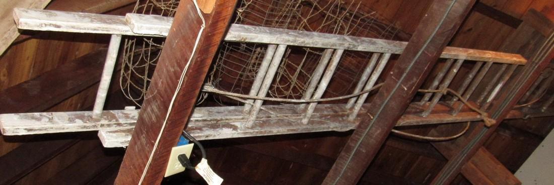 24' Wooden Extension Ladder