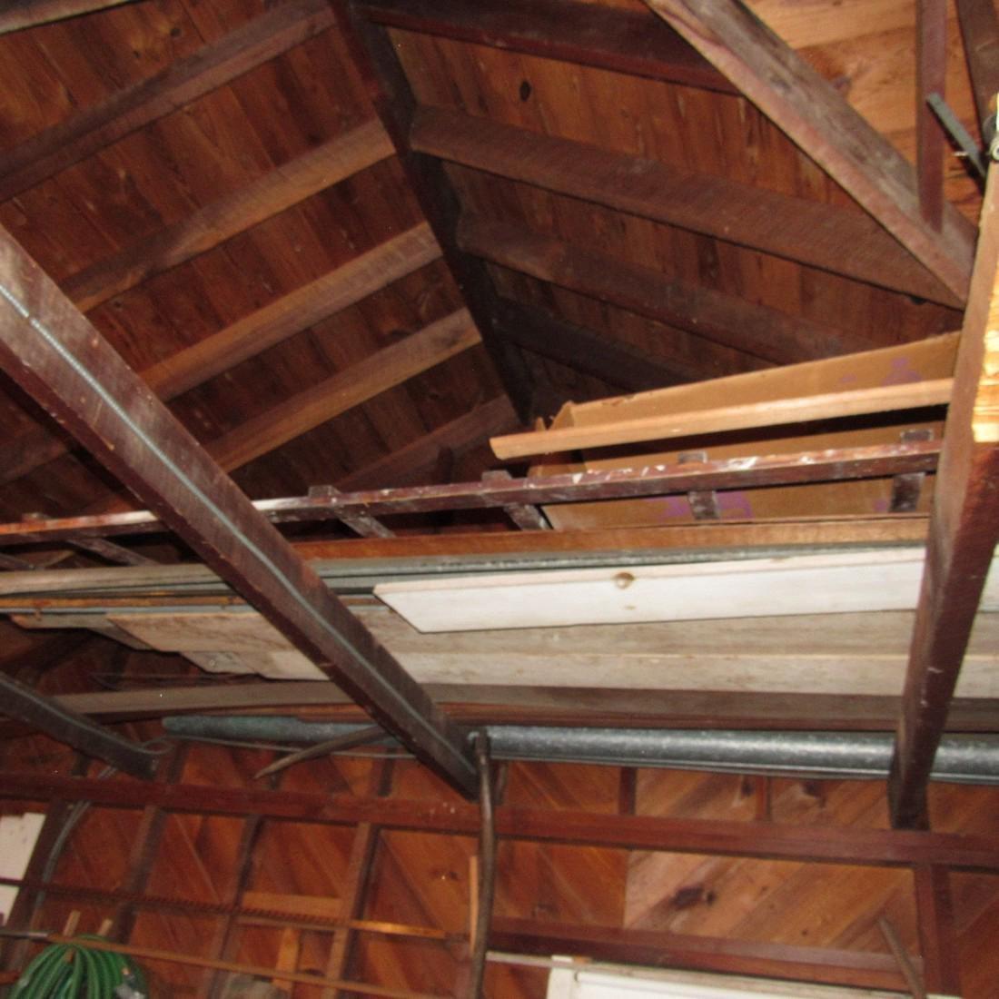 Contents of Top of Garage Mower Wood Door