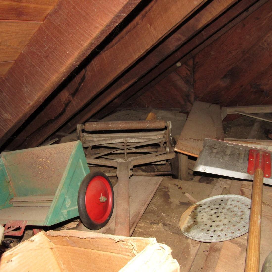 Contents of Top of Garage Mower Wood Door - 6