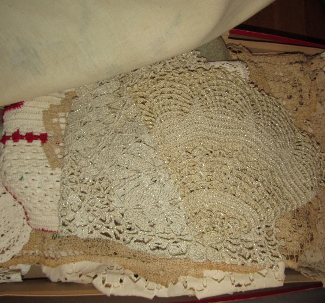 Large Lot of Linens Doilies - 8