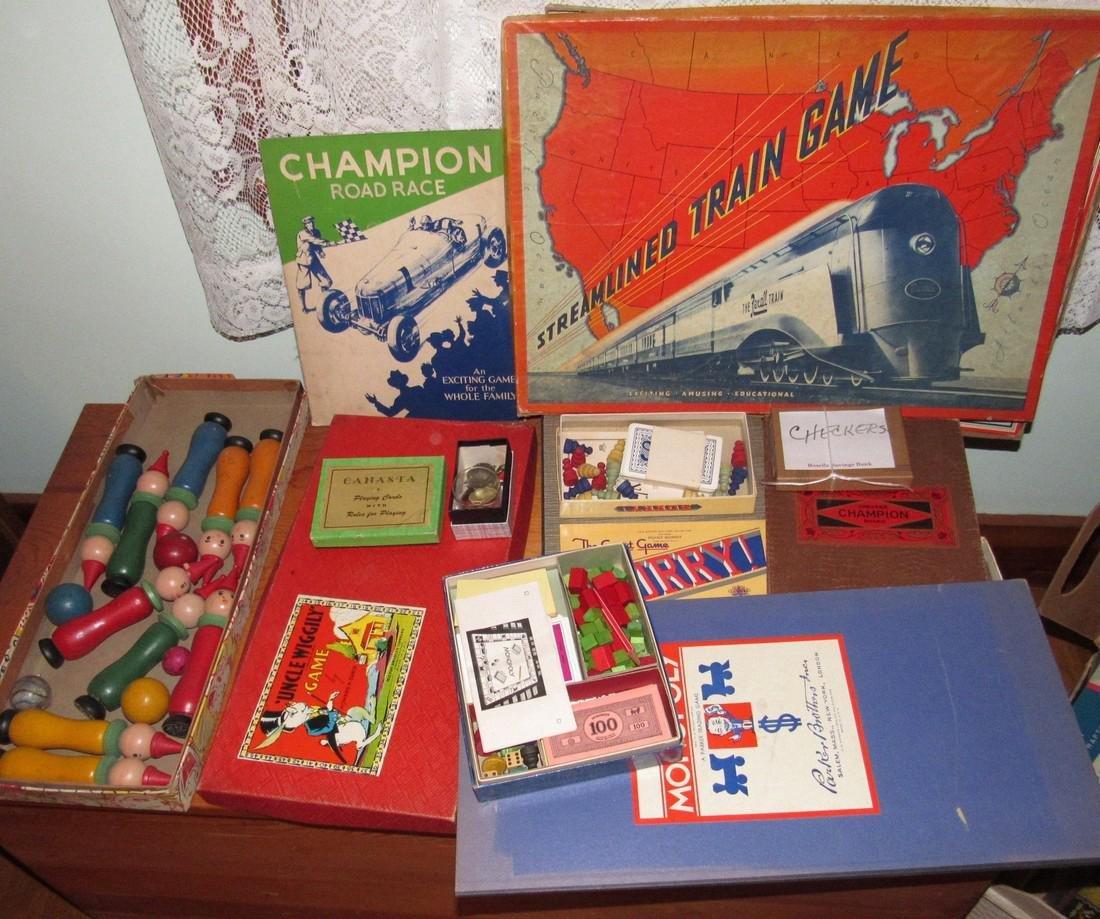 Lot of Vintage Toys Games