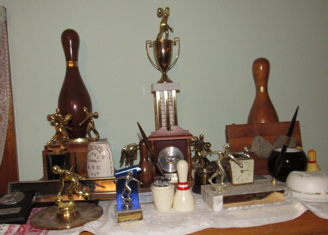 Lot of Bowling Trophies Planter Prince Lighter
