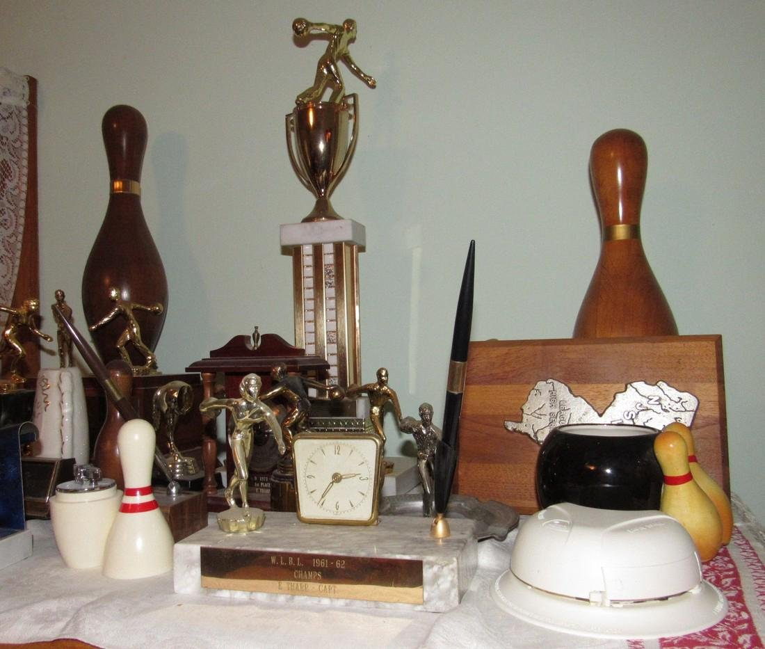 Lot of Bowling Trophies Planter Prince Lighter - 2