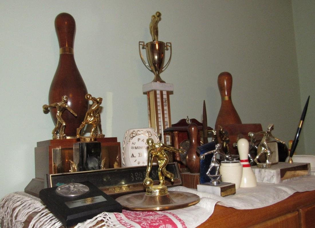 Lot of Bowling Trophies Planter Prince Lighter - 3