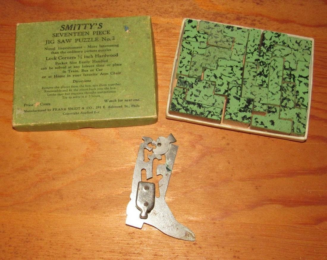Maxwell Cowboy Boot & Smittys Jig Saw Puzzle