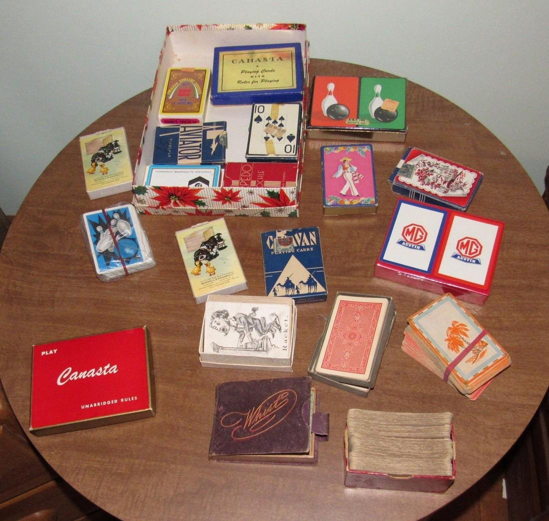 Large Lot of Playing Cards incl. MG Austin