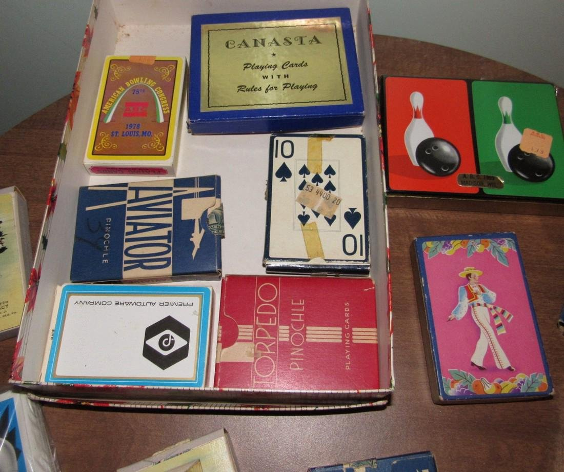 Large Lot of Playing Cards incl. MG Austin - 2