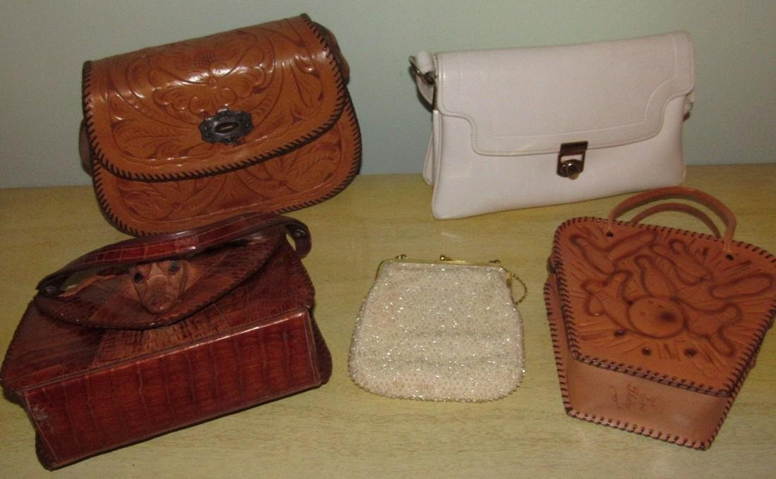 Vintage Purses Alligator Bowling