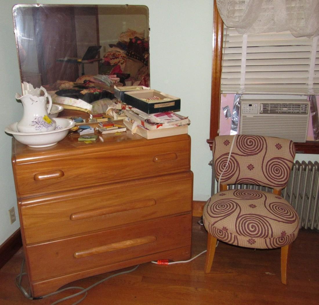 1950's Bedroom Set Vanity Dresser Bed - 2