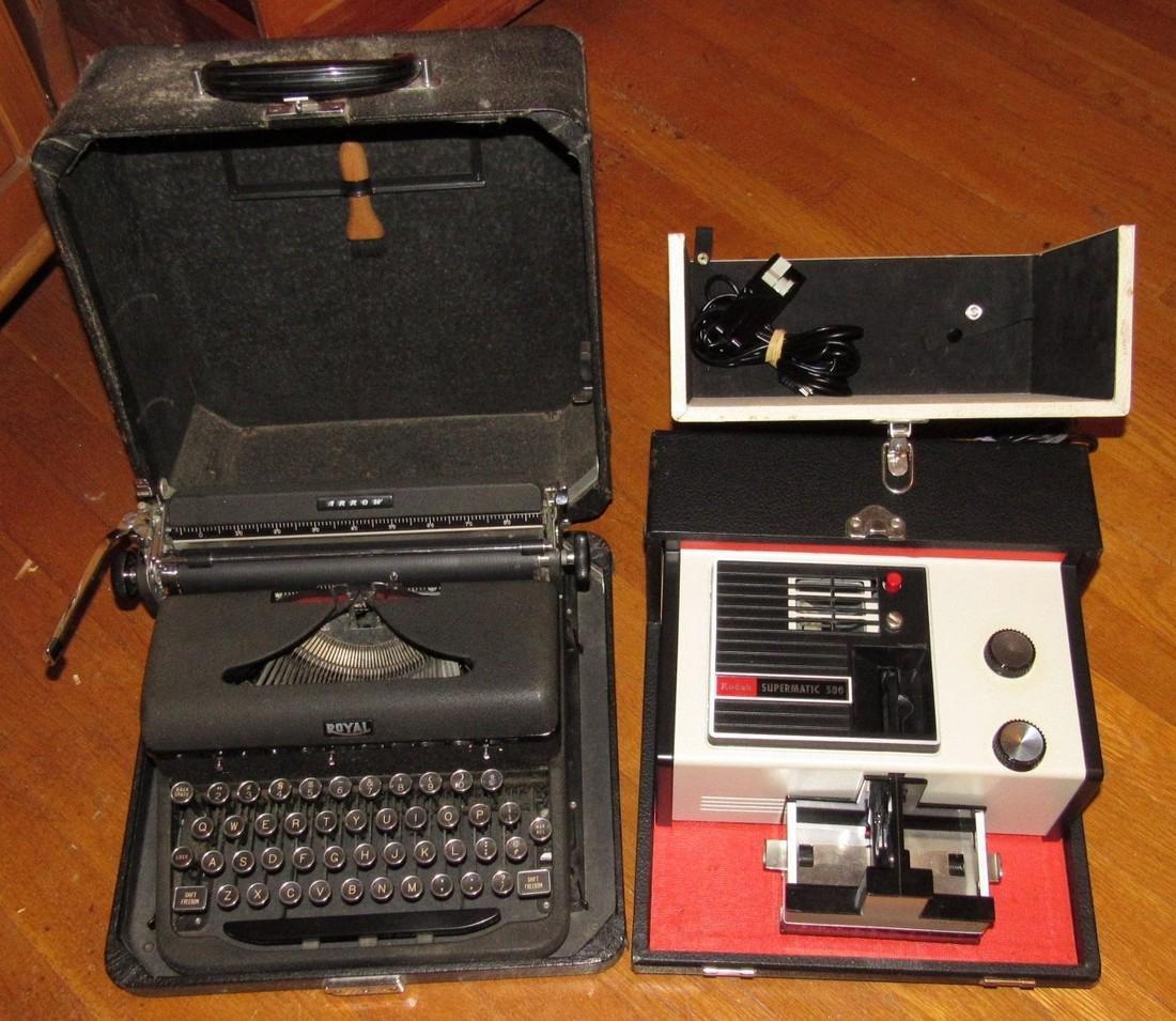 Royal Typewriter & Kodak Projector