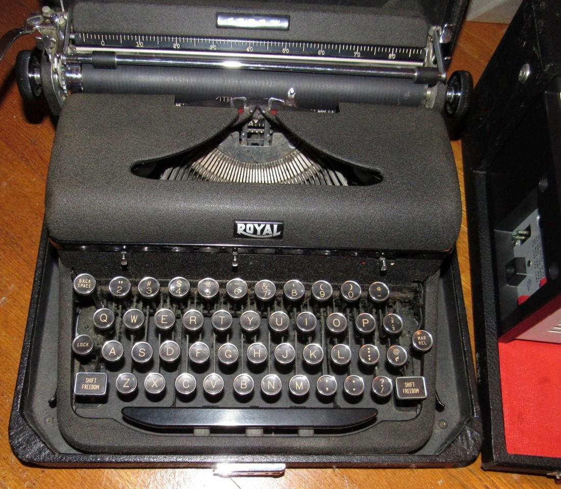 Royal Typewriter & Kodak Projector - 2