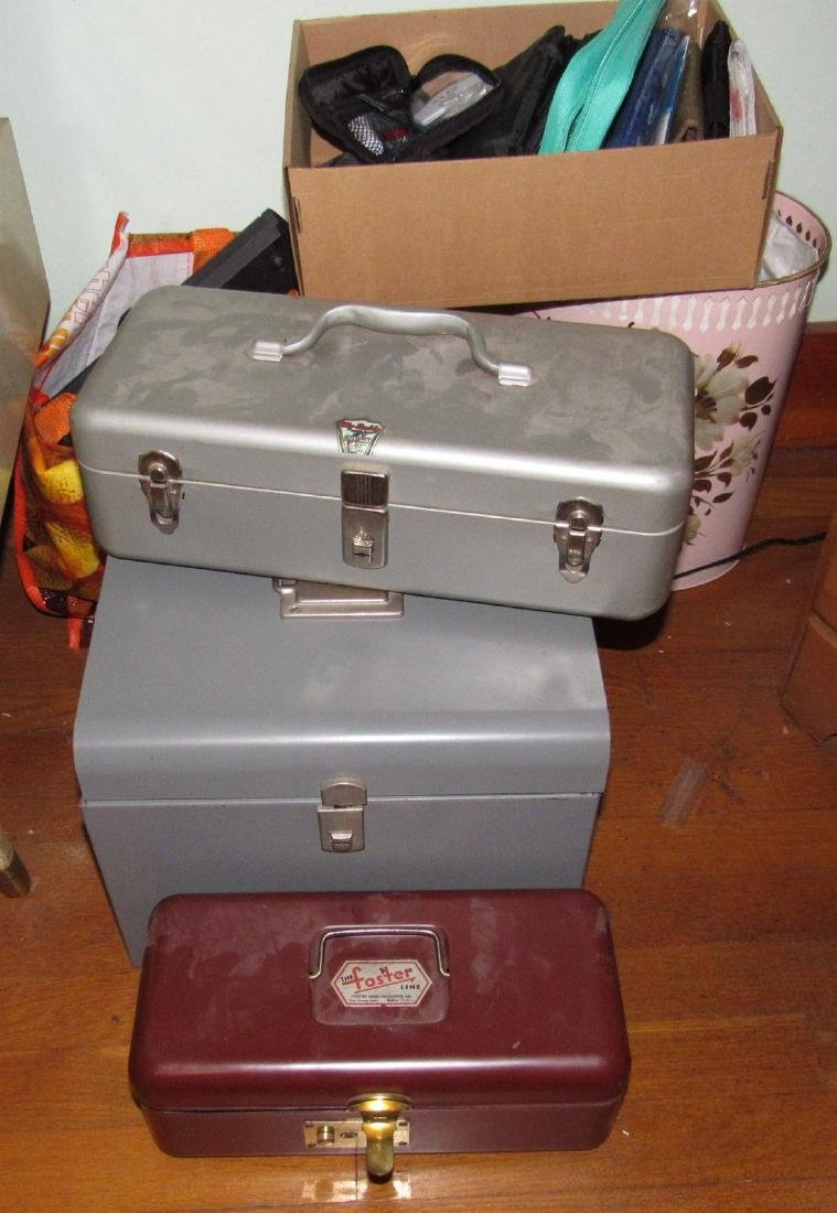 Metal Tool / Tackle Boxes Lot