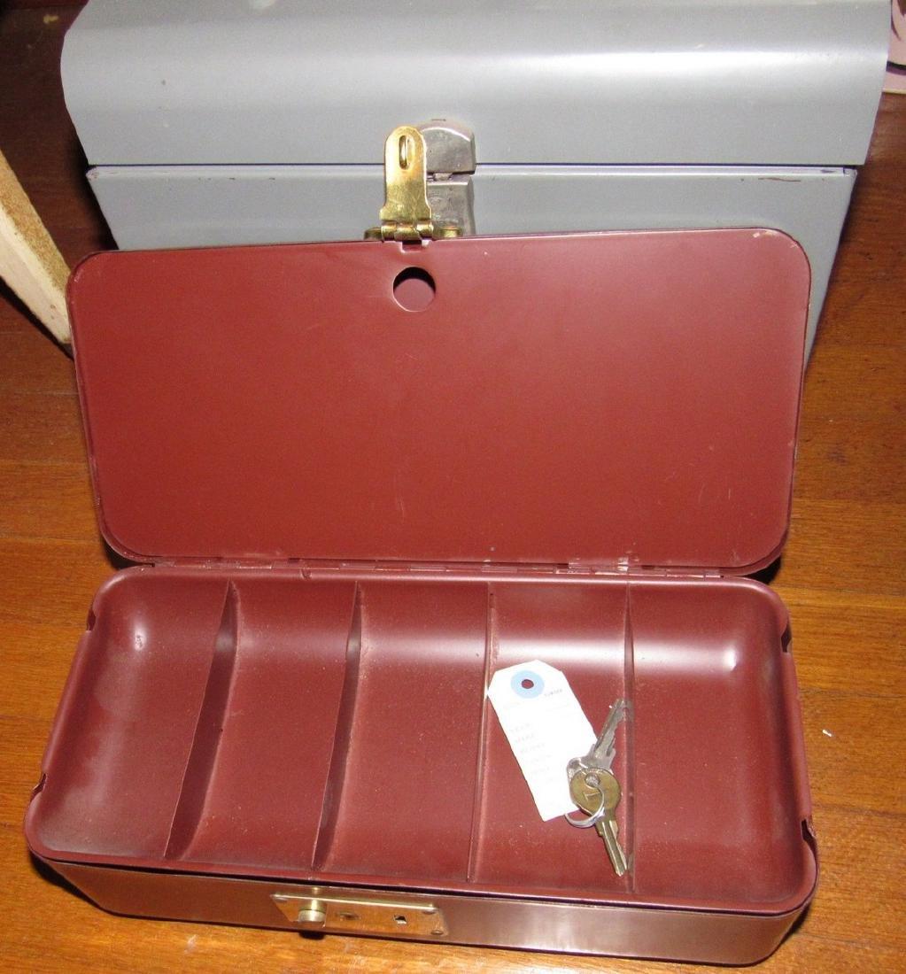 Metal Tool / Tackle Boxes Lot - 2