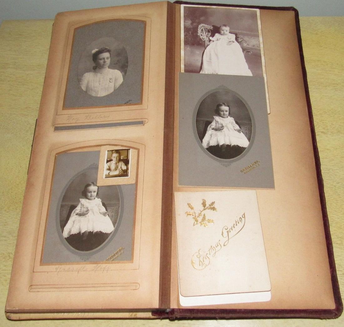 Antique Photo Album w/ Pictures - 10