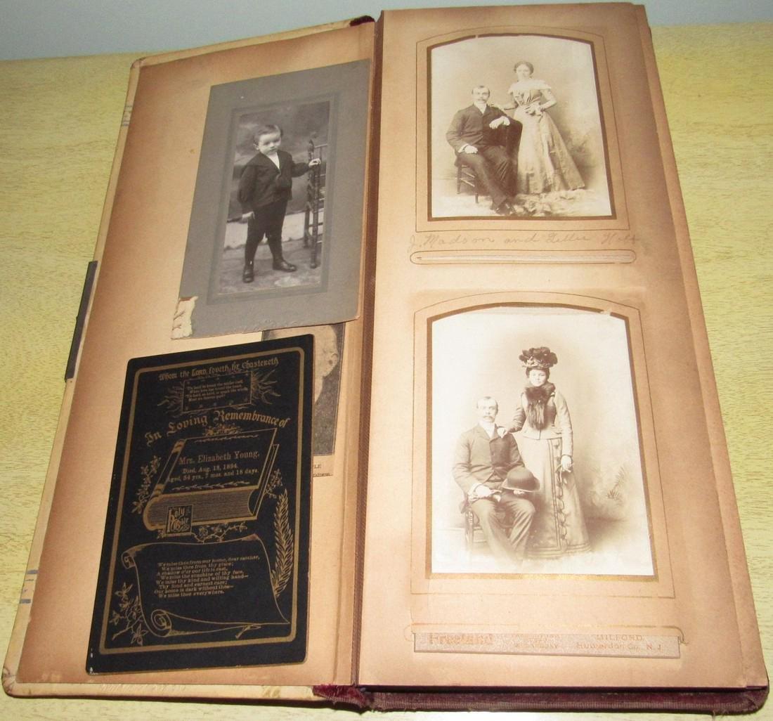 Antique Photo Album w/ Pictures - 2
