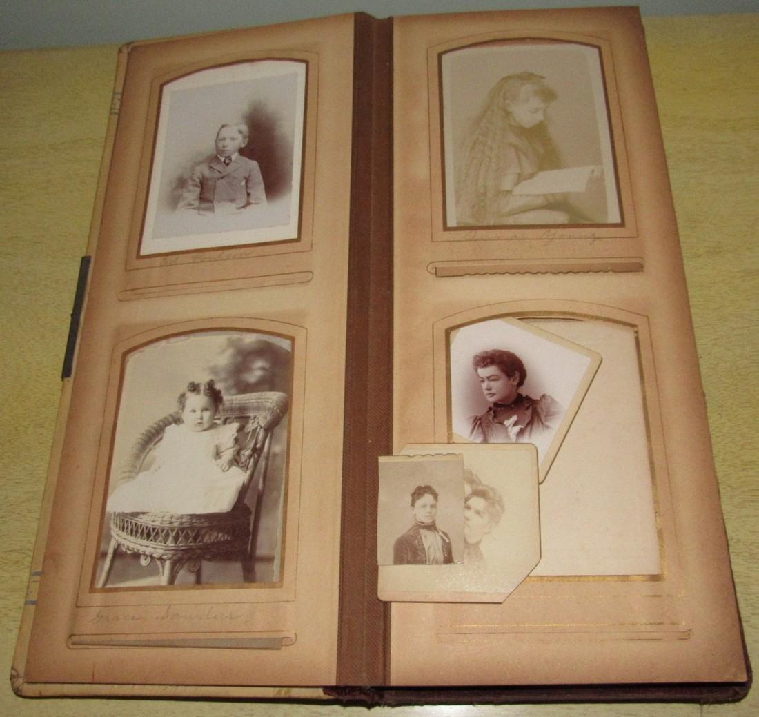 Antique Photo Album w/ Pictures - 3