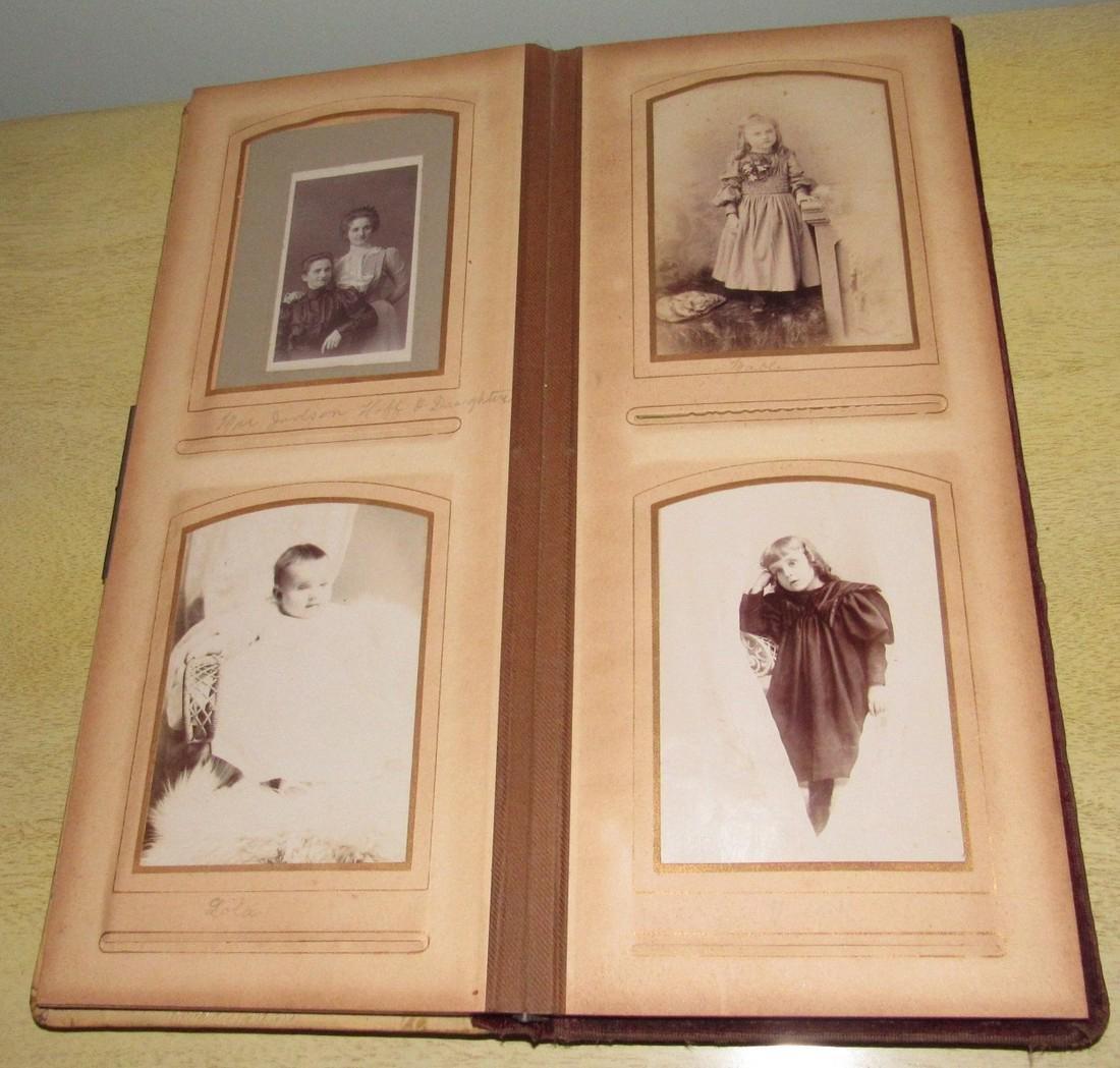 Antique Photo Album w/ Pictures - 6
