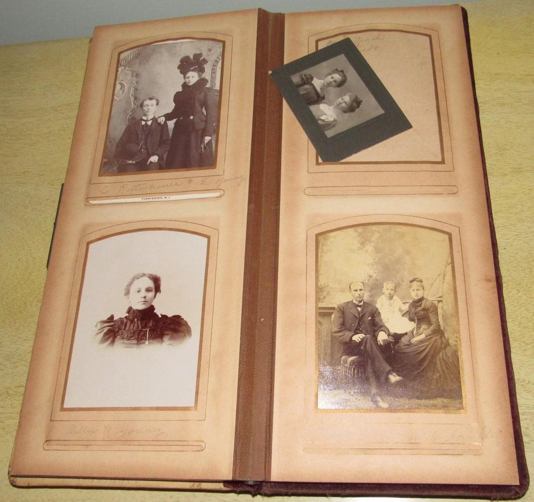 Antique Photo Album w/ Pictures - 7