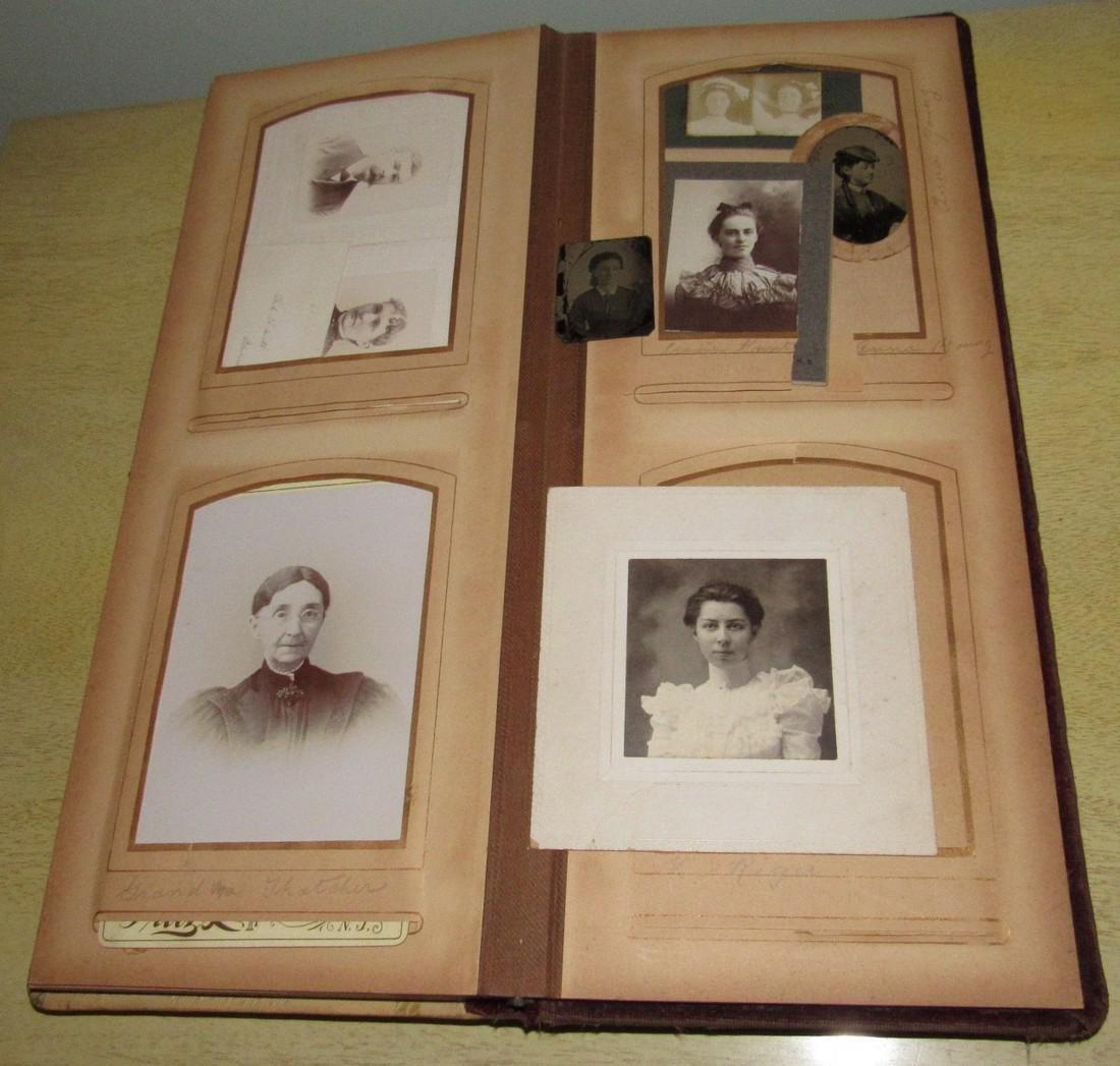 Antique Photo Album w/ Pictures - 8