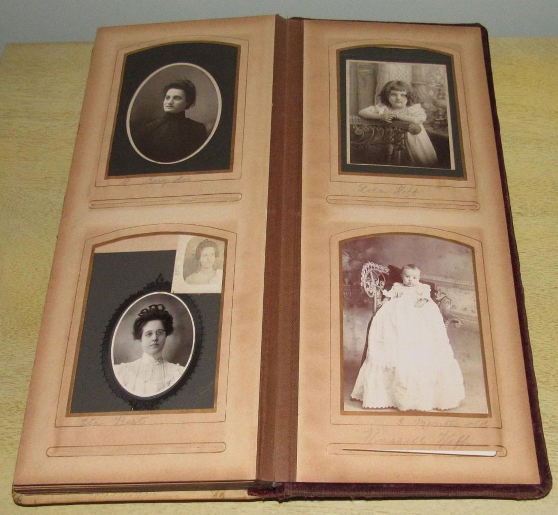 Antique Photo Album w/ Pictures - 9
