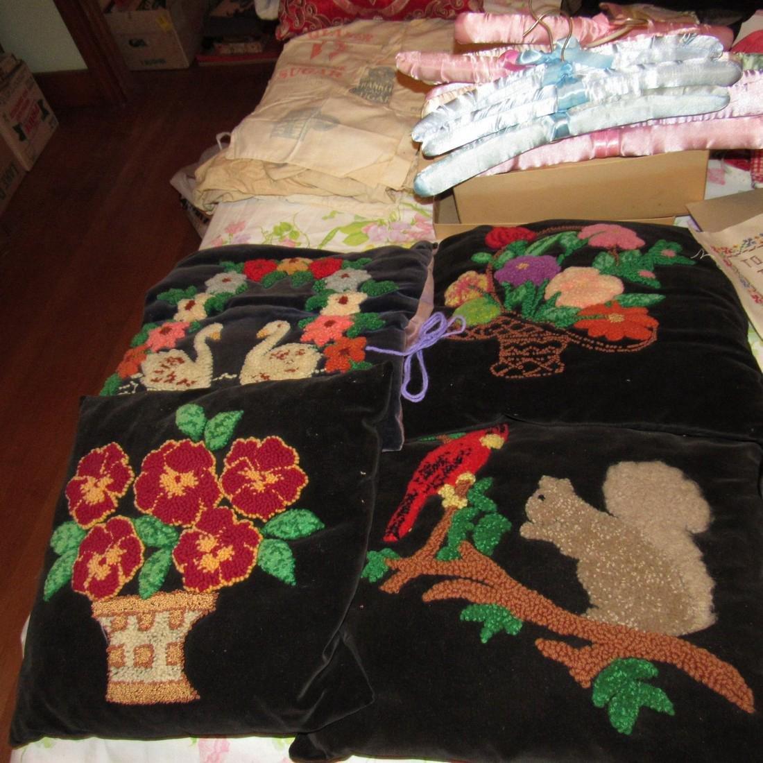 Bedspreads Pillows Blankets Doilies Hangers - 2