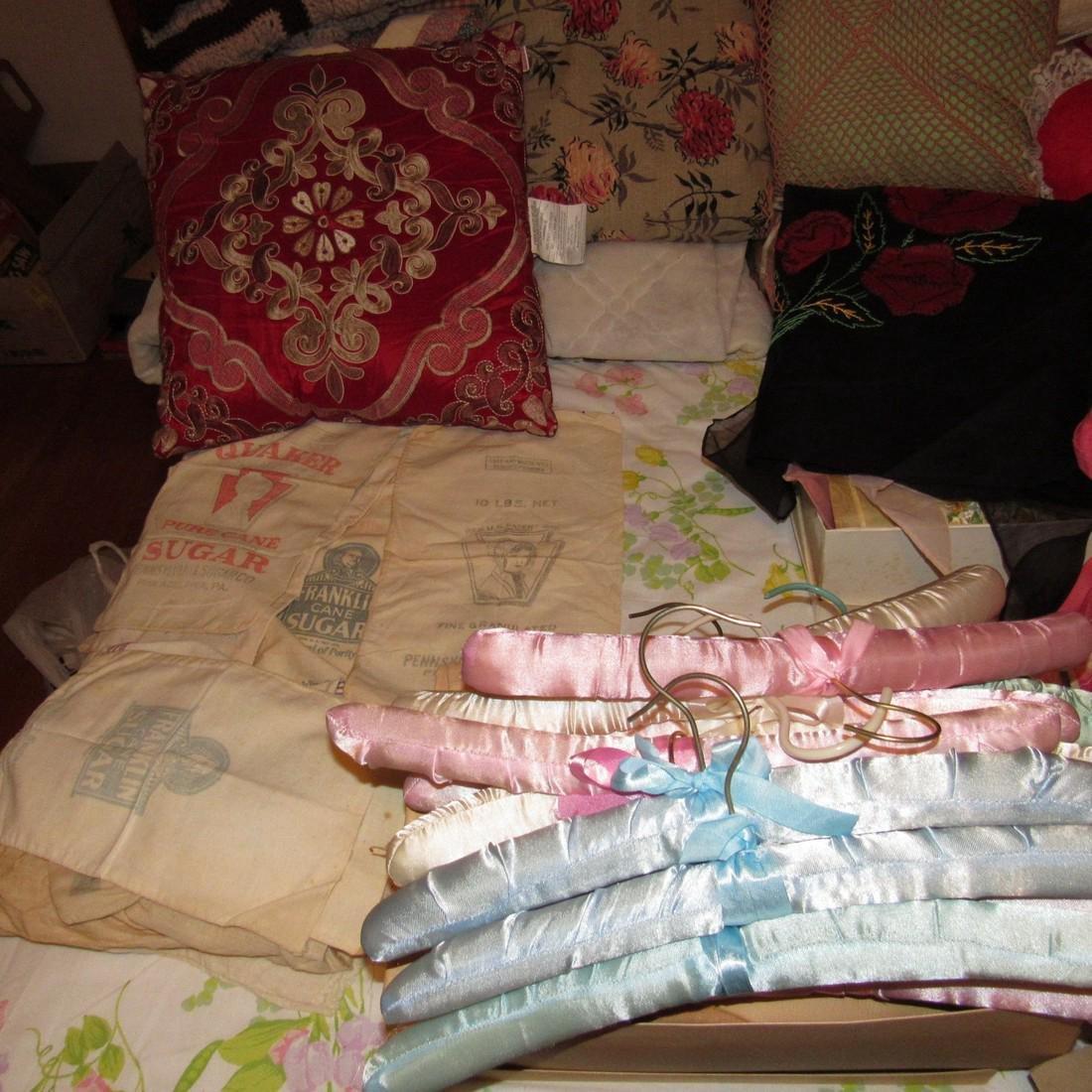 Bedspreads Pillows Blankets Doilies Hangers - 5