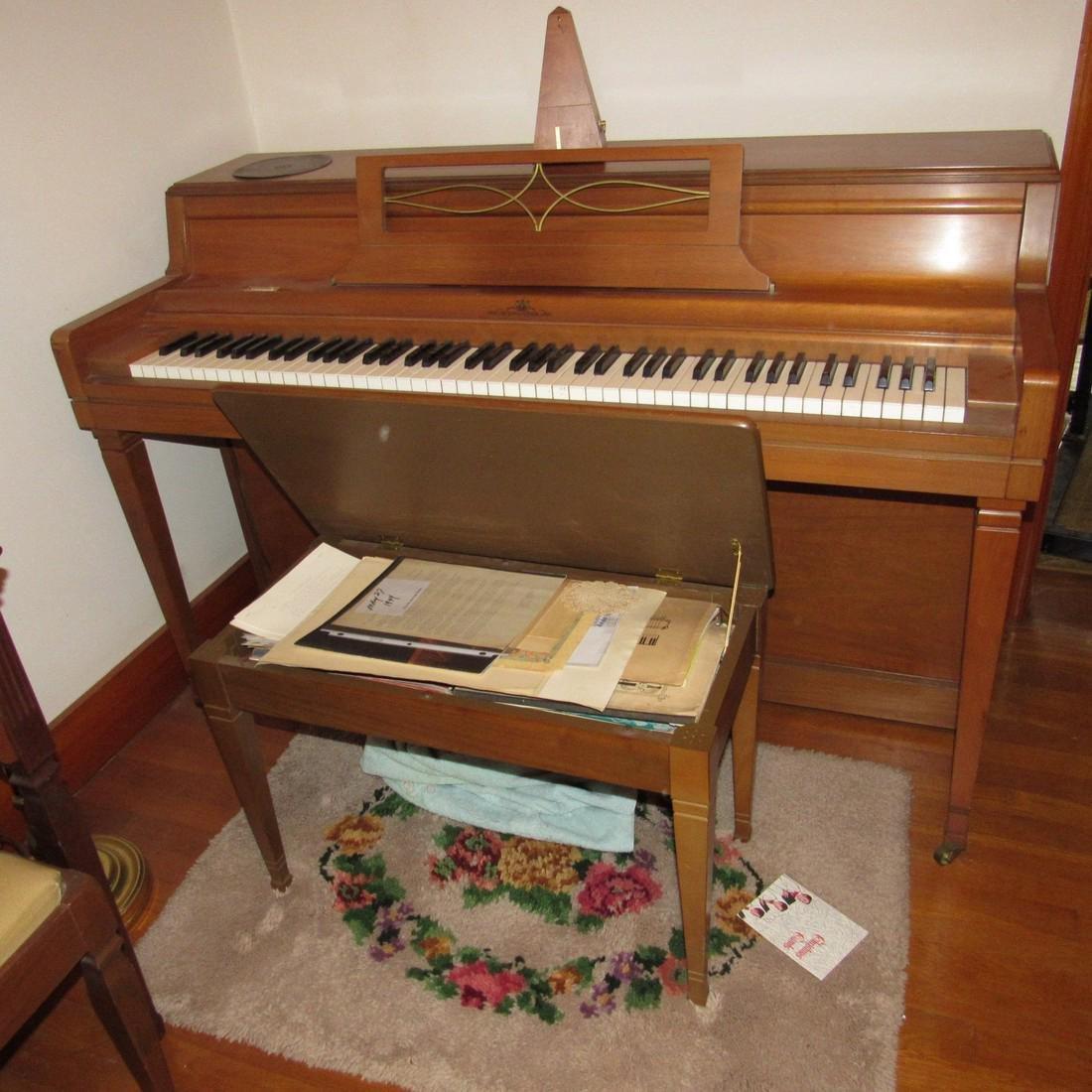 Wurlitzer Piano Bench Seth Thomas Metronome