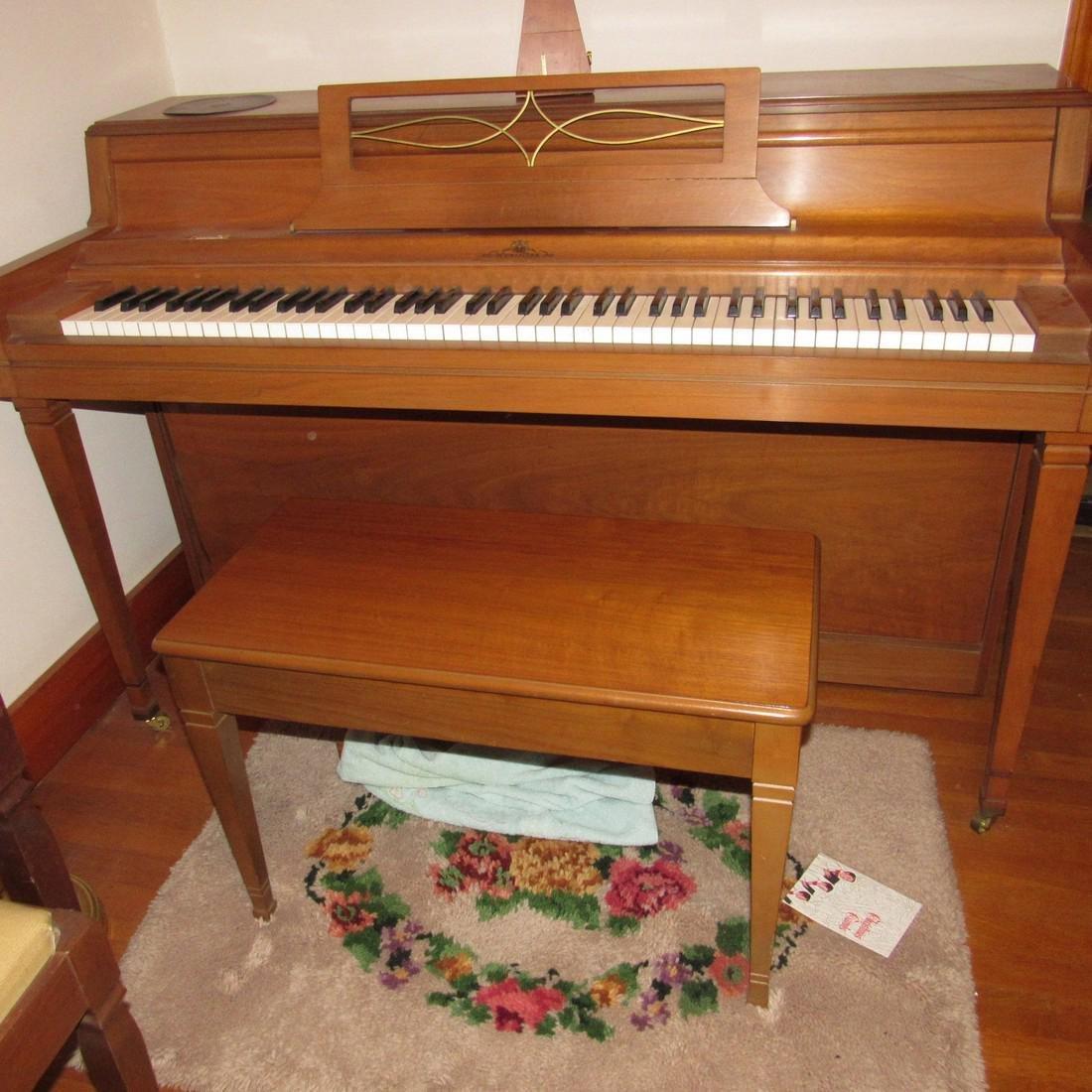 Wurlitzer Piano Bench Seth Thomas Metronome - 3