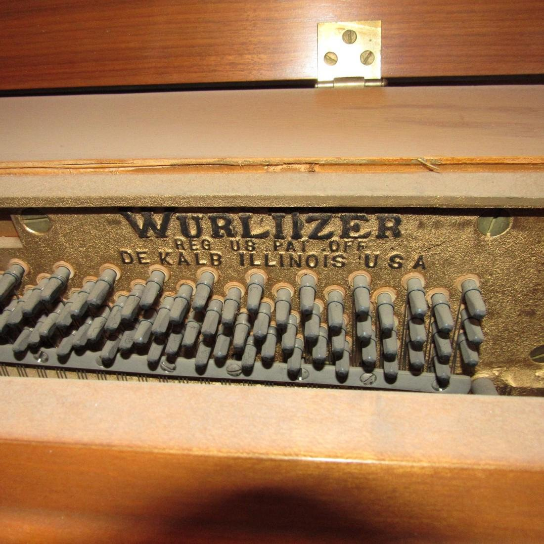 Wurlitzer Piano Bench Seth Thomas Metronome - 5