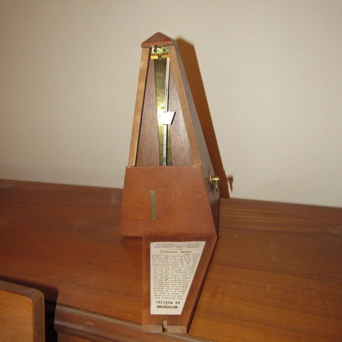 Wurlitzer Piano Bench Seth Thomas Metronome - 9