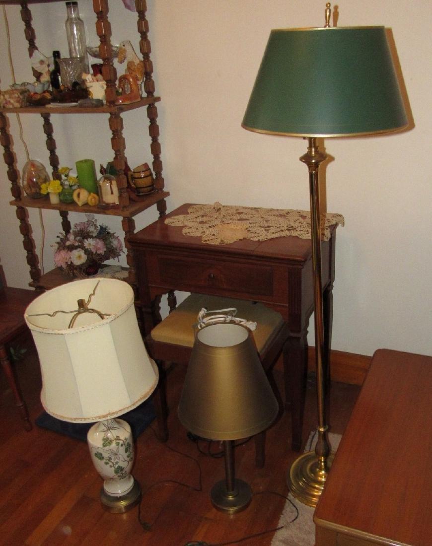 Floor Lamp & 2 Table Lamps